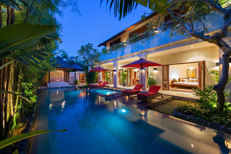 Villa Kalimaya IV - Master Bedroom Pool View - Seminyak, Bali