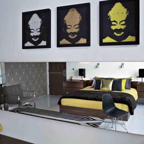 Luna2 Private Hotel - Yellow Bedroom - Seminyak, Bali
