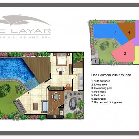 The Layar - 1 Bedroom Villa - Floor Plan - Seminyak, Bali