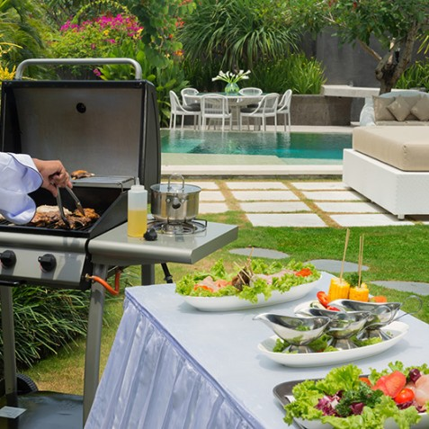The Layar Villas Bali - BBQ in Villa - Seminyak, Bali