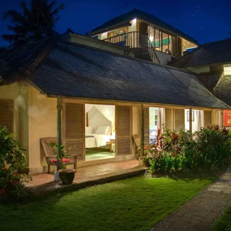 The Orchard House - Guest Suites at Night - Seminyak, Bali