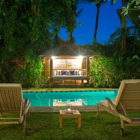The Orchard House - Poolside at Night - Seminyak, Bali
