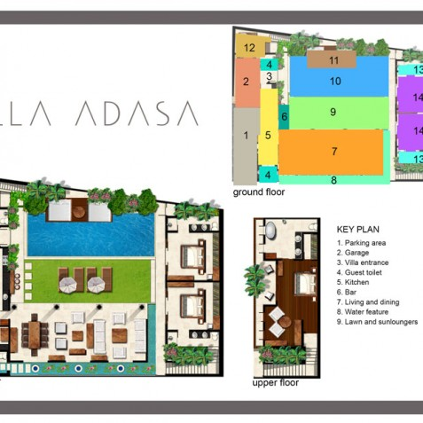 Villa Adasa - Floor Plan - Seminyak, Bali