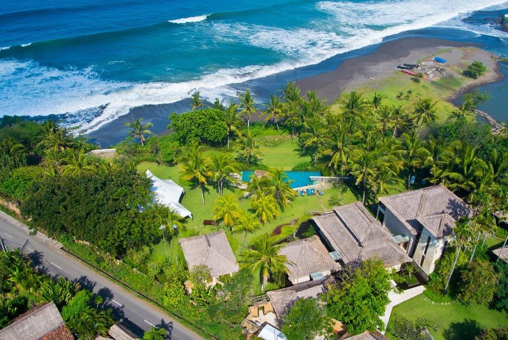 Villa Arika Bali - Aerial View - Canggu, Bali