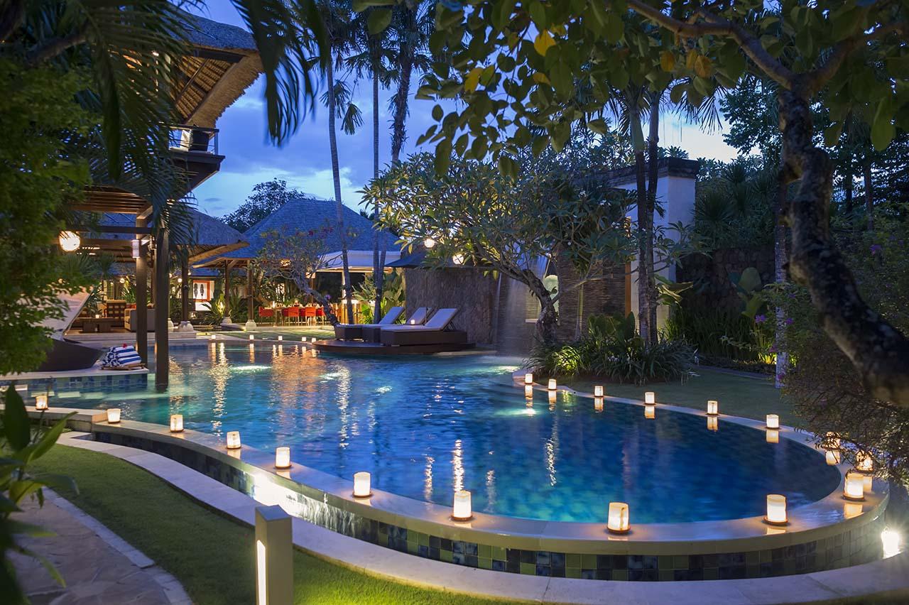 Villa Asta Bali - Pool at Night - Seminyak, Bali