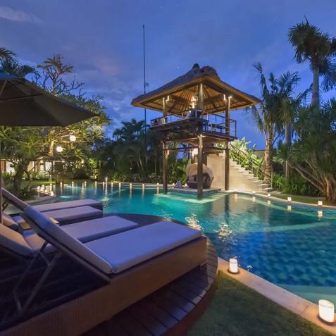 Villa Asta Bali - Poolside at Twilight - Seminyak, Bali