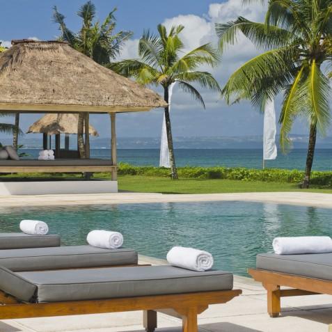 Villa Atas Ombak Bali - Pool Loungers and Bale - Seminyak, Bali