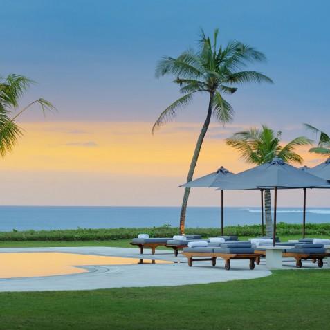 Villa Atas Ombak Bali - Sunset over Pool - Seminyak, Bali