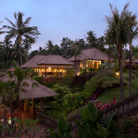 Villa Bayad Bali - Villa at Dusk - Ubud, Bali