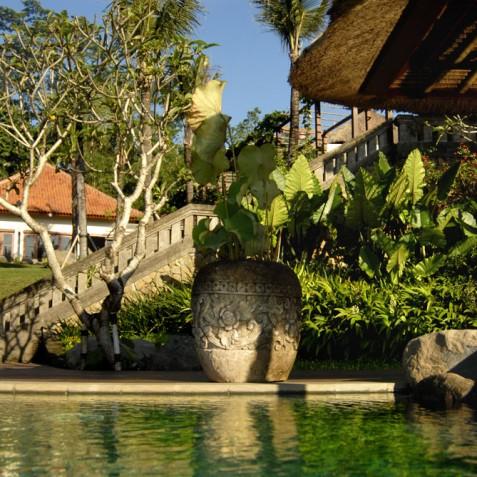 Villa Bayad Bali - Main House from Pool - Ubud, Bali