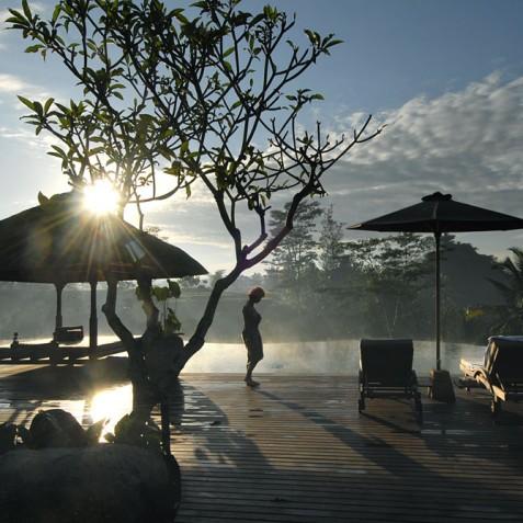 Villa Bayad Bali - Morning Mist over Pool - Ubud, Bali