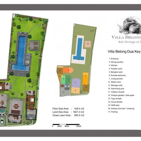 Villa Belong Dua - Seseh-Tanah Lot, Bali - Floor Plan