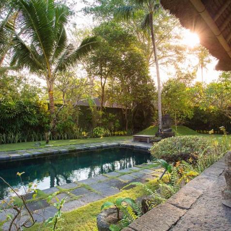 Villa Belong Dua - Seseh-Tanah Lot, Bali - Garden at Dusk