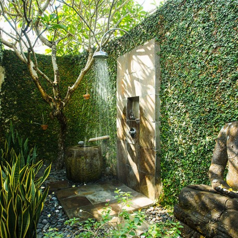 Villa Belong Dua - Seseh-Tanah Lot, Bali - Outdoor Shower
