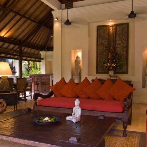 Villa Bougainvillea Bali - Dining, Living Area and Bar - Canggu, Bali