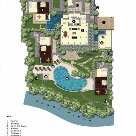 Villa Bougainvillea Bali - Floor Plan - Canggu, Bali