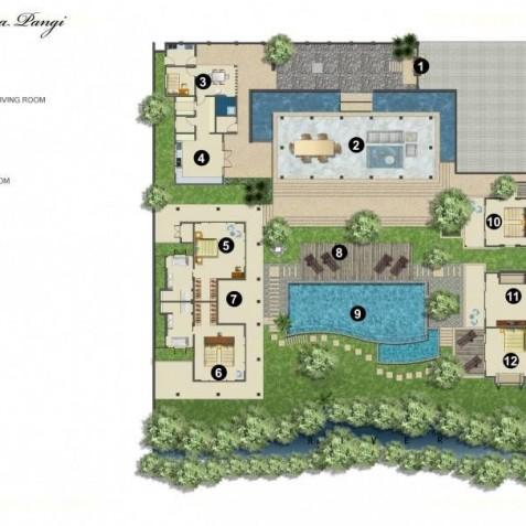 Villa Bunga Pangi Bali - Floor Plan - Canggu, Bali