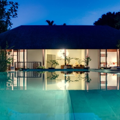 Villa Bunga Pangi Bali - Guest Suites at Night - Canggu, Bali