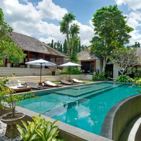 Villa Bunga Pangi Bali - Pool view from Guest Suites - Canggu, Bali