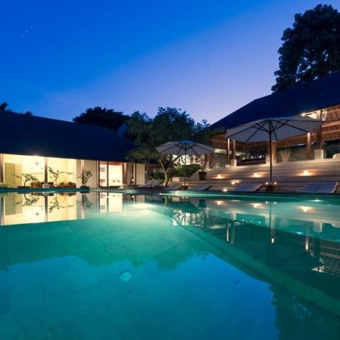Villa Bunga Pangi Bali - Pool at Night - Canggu, Bali