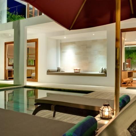 Villa Casa Brio - Alcove in Evening - Seminyak, Bali