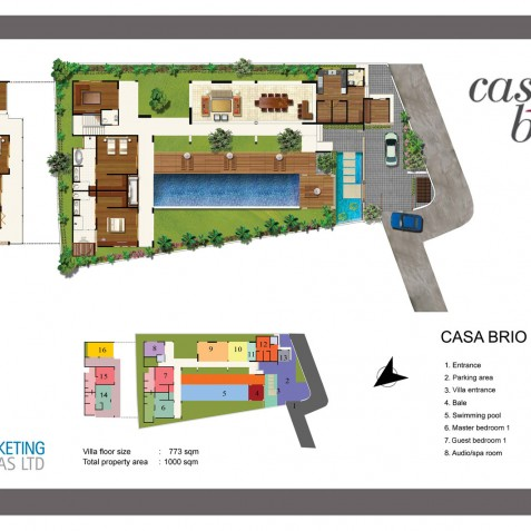 Villa Casa Brio - Floor Plan - Seminyak, Bali