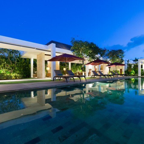 Villa Casa Brio - Pool at Night - Seminyak, Bali