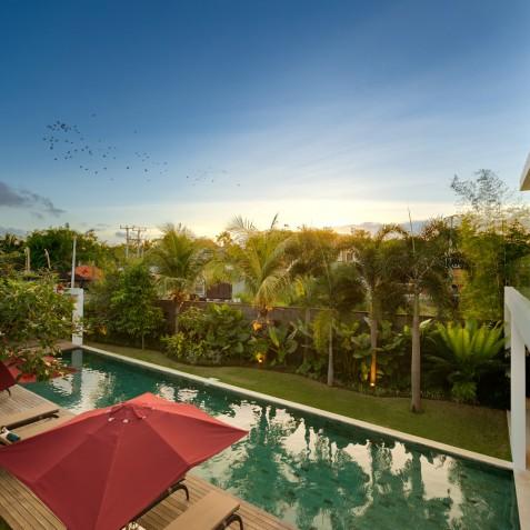 Villa Casa Brio - Sunset from Upstairs Balcony - Seminyak, Bali