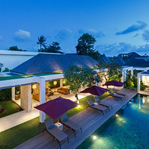 Villa Casa Brio - Villa at Dusk - Seminyak, Bali