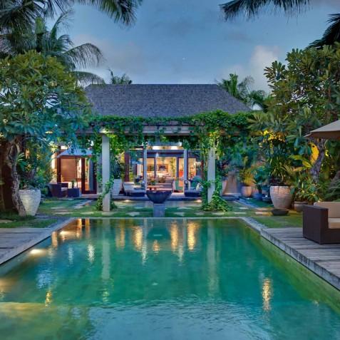 Villa Eshara I - Pool at Dusk - Seminyak, Bali