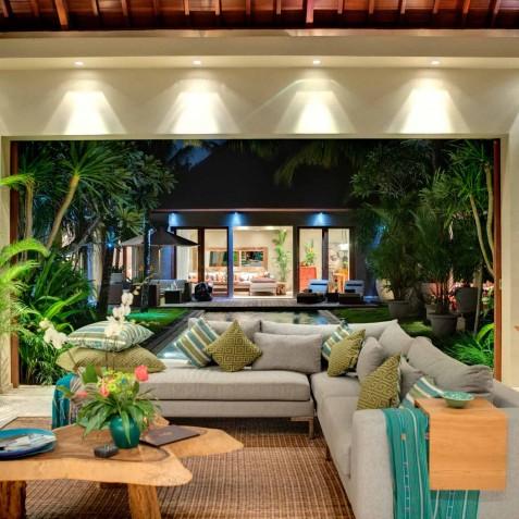 Villa Eshara II - Living Area at Night - Seminyak, Bali
