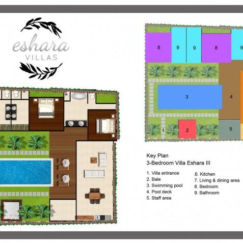 Villa Eshara III - Floor Plan - Seminyak, Bali