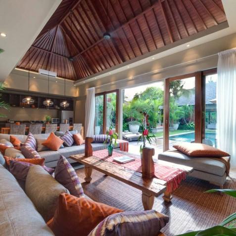 Villa Eshara III - View to Pool - Seminyak, Bali