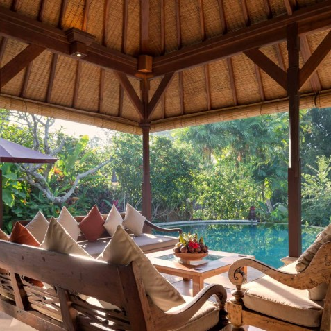 Villa Frangipani Bali - Morning by the Pool - Canggu, Bali