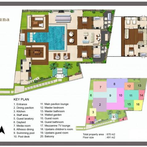 Villa Jajaliluna - Floor Plan - Seminyak, Bali