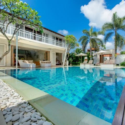 Villa Jajaliluna - View from Living Pavilion - Seminyak, Bali