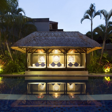 Villa Jemma - Pool Bale at Night - Seminyak, Bali