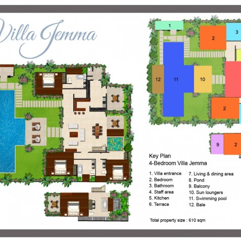 Villa Jemma - Floor Plan - Seminyak, Bali