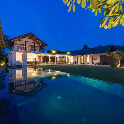 Villa Kavya Bali - Villa at Night - Canggu, Bali