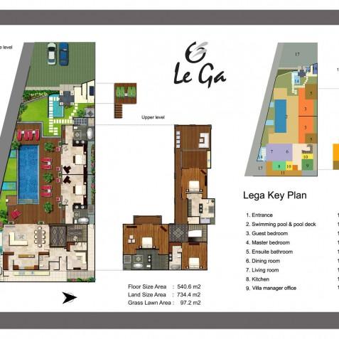 Villa LeGa Bali - Floor Plan - Seminyak, Bali
