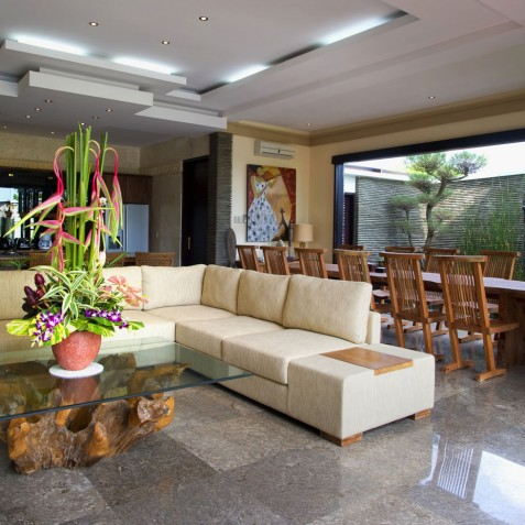 Villa LeGa Bali - Living and Dining Area - Seminyak, Bali