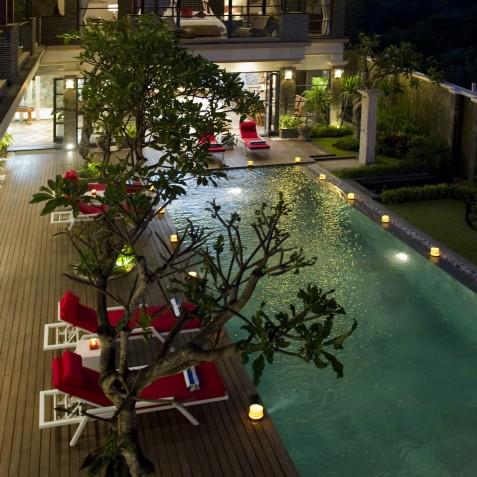Villa LeGa Bali - View from Master Bedroom - Seminyak, Bali