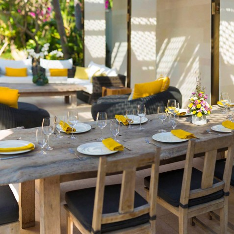 Villa Lilibel Bali - Outdoor Dining & Living Area - Seminyak, Bali