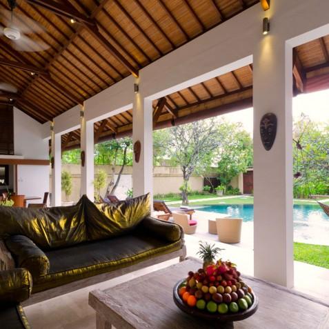 Villa Maharaj - View from Living Area - Seminyak, Bali