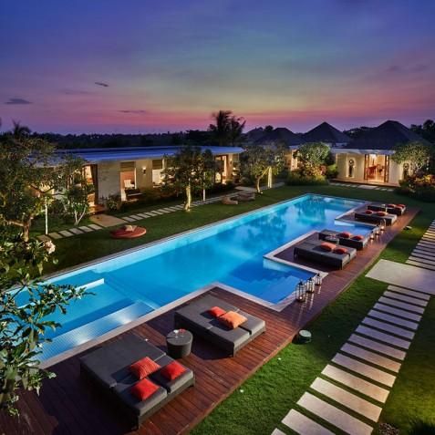 Villa Malaathina Bali - Evening View - Umalas, Bali