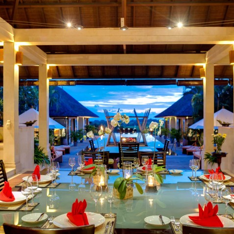 Villa Mandalay Bali - Dinner Setting - Seseh-Tanah Lot