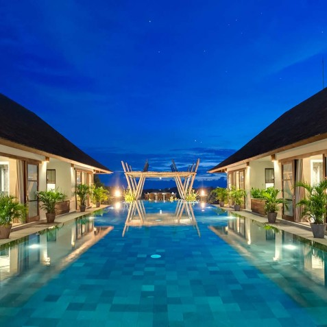 Villa Mandalay Bali - Pool at Night - Seseh-Tanah Lot