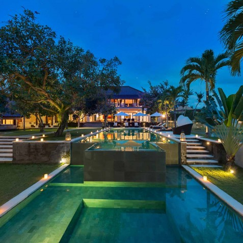 Villa Manis Bali - Pools at Night - Canggu, Bali