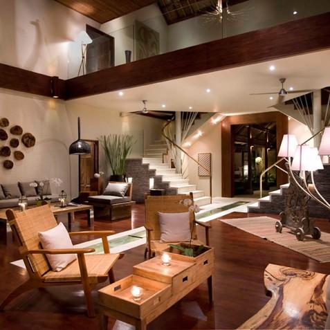 Villa Melissa Bali - Lounge at Night - Pantai Lima, Canggu, Bali