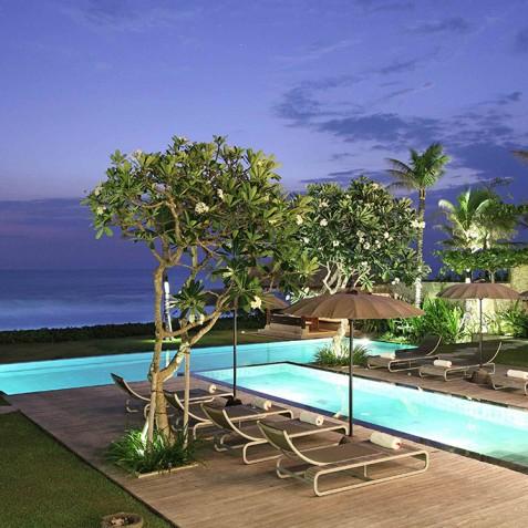 Villa Melissa Bali - Pool at Night - Pantai Lima, Canggu, Bali